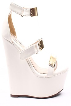 Stylish White Wedge Shoes - Fashion Shoes For Women