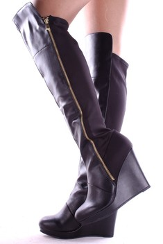 over the knee boots,black over the knee boots,leather over the knee boots,over the knee wedge boots