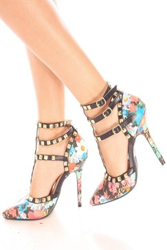 sexy heels,floral heels,high heels shoes